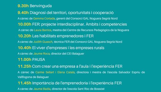 Formació en emprenedoria per a mestres en el marc del projecte Futurs Emprenedors Rurals